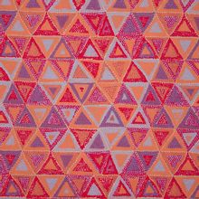 Katoen met driehoeken gevuld met gekleurde stippen