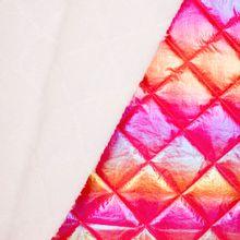 Roze blinkende stof met imitatiebont van Little Darling