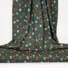 Groene viscose tricot met onregelmatige bollen  van 'Stitched By You'