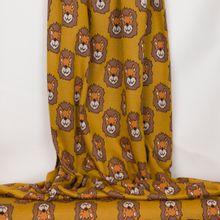Okergeel breitje met leeuwenkopjes