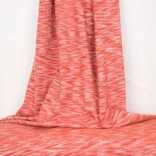 Donker oranje met wit gemeleerde sweater brushed van poppy
