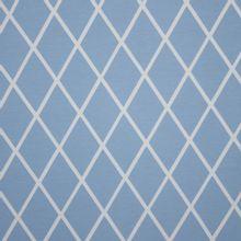 Lichtblauwe sweater met witte ruitjes van Eva Mouton