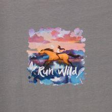 Grijs tricot paneel Spirit run wild