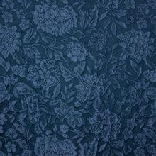 Donkerblauwe jacquard met bloemenmotief