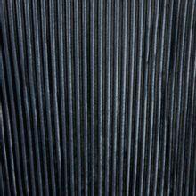 Fluwelen plissé in zwart en donkergrijs