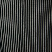 Fluwelen plissé in zwart en lichtgrijs