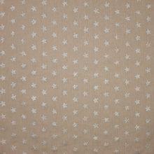 Ecru canvas met glitter zilveren sterren