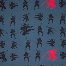 Blauwe tricot met ninja's