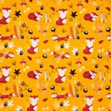 Gele tricot met vosjes