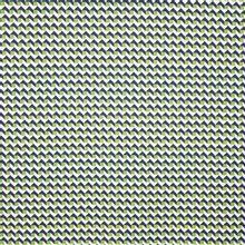 Tricot met geometrisch motief in groen, zwart en ecru van Hamburger Liebe