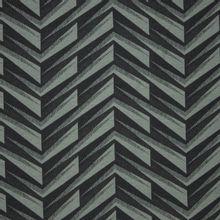 French terry met geometrisch V patroon in grijs en zwart