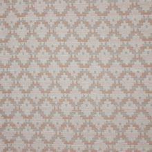 Fijn breitje met geometrische motief in wit, lichtroze en zilveren glitter