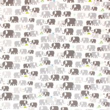 Wit katoentje met olifanten