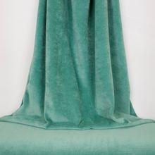 Turquoise ribfluweel
