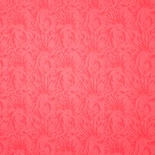 Koraalroze jacquard breitje met abstract motief van 'Fibre Mood'