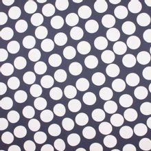 Blauwe polyester met ecru bollen