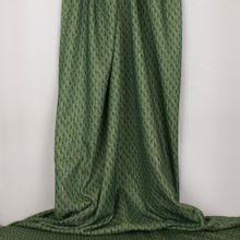 Groene polyester met print van gebreide stof