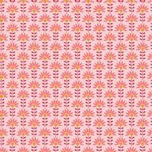Roze katoen met bloemetjes van Poppy