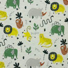 Grijze tricot met wilde dieren van Poppy
