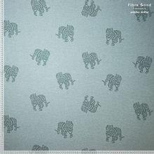Groen/Blauwe Katoen Polyester Jacquard Met Tijgers Fibre Mood