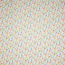 Witte polyester met toekan motief