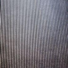 Fijne plissé in polyester, in zwart en zilveren glitter