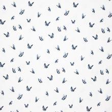 Witte Tricot met Grijze Vlinders