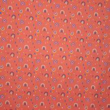 Oranje Tricot met Regenboogjes