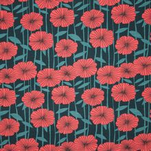 Modaltricot met rode bloemen van 'Lillestoff'
