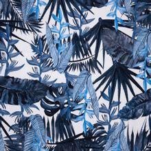 Blauwe Tricot met Bladeren