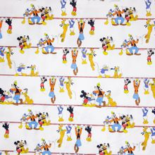 Katoen met Micky Mouse Figuurtjes