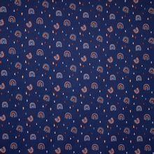Blauwe Tricot met Regenboogjes