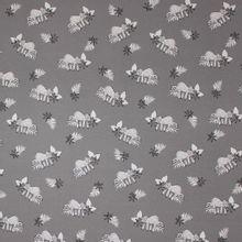 Kleur veranderende grijze tricot met luiaard motief