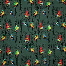 Groene Tricot met Vogels