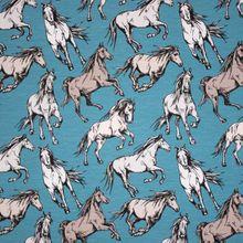 Blauwe Tricot met Paarden