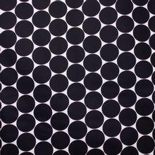 Witte Katoen met Zwarte Cirkels