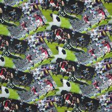 Tricot met fotoprint van voetbalmatch