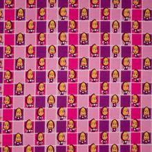 Roos / paarse tricot met roodkapjes motief