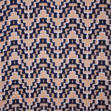 Bruine Viscose met Zwart patroon