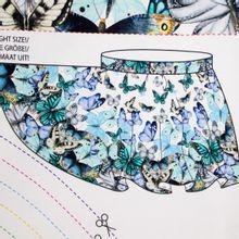Circle Skirt met Vlinders Paneel