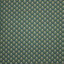Groene Katoen met Patroon van Miss Doodle