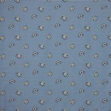 Blauw gestreepte tricot met berenhoofdjes