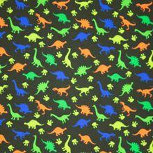 Kaki Katoen Tricot met Dino's
