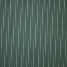 Donkergroene tencel piqué met witte krijtstreep van 'Meet Milk'