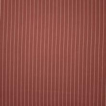 Bruine tencel piqué met witte krijtstreep van 'Meet Milk'