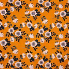 Oranje Tricot met Bloemen