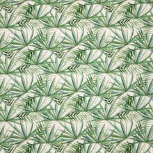 Witte Tricot met Tropische Bladeren