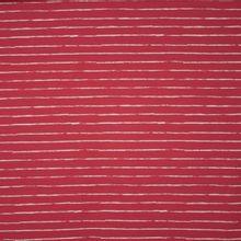 Zacht rode tricot met witte streepjes 'Crayon' van 'Cherry Picking'