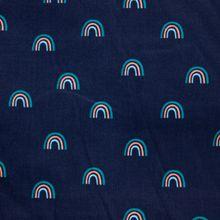 Blauwe Ribfluweel met Regenboogjes