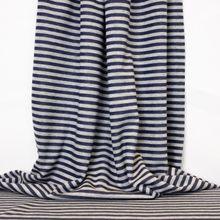 Gestreepte Rekbare Katoen Polyester